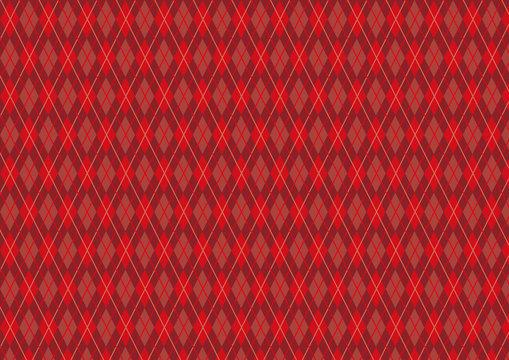 アーガイル柄 赤