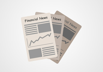 Financial news finance newspapers. Vector infographic.