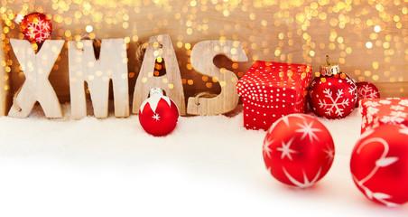 Xmas Weihnachten Hintergrund Banner mit Bokeh