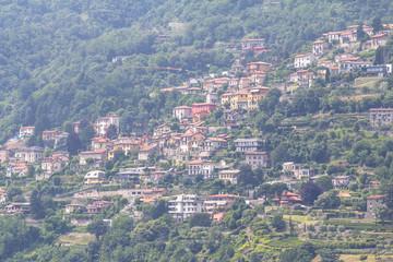 Como Lake district landscape. Italy