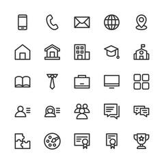 cv / resume line icons