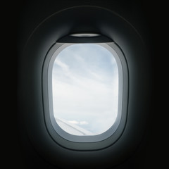 Looking Through An Airplane Window Porthole
