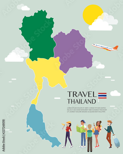 Map Of Thailand Vector And Illustration.\