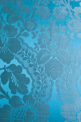 Blue classical baroque style exclusive wallpaper
