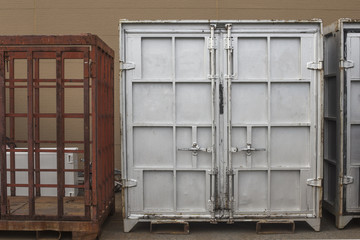 cargo container box. metal shipping container