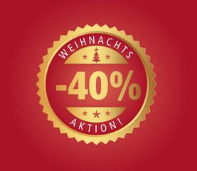 40% Weihnachtsaktion vector