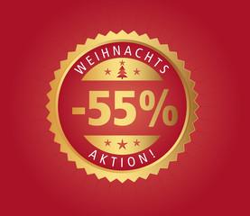 55% Weihnachtsaktion vector