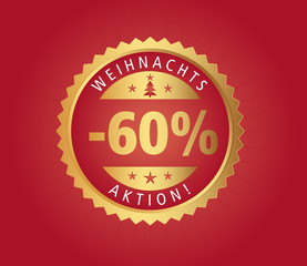 60% Weihnachtsaktion vector