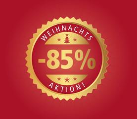 85% Weihnachtsaktion vector
