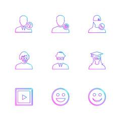 avtar , user , profile , avatar , emoji , emoticon , eps icons set vector