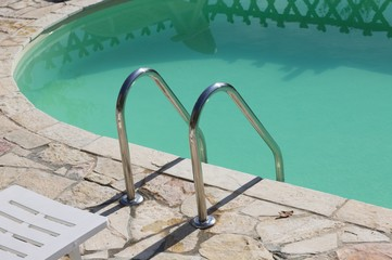 Isolated pool ladder - Swimming pool details (Marche, Italy, Europe)