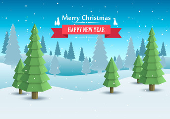 Merry Christmas cover art, Happy new year background, Vector illustration