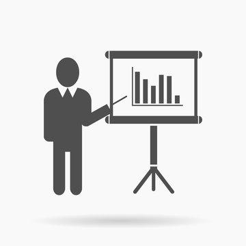 Business Presentation vector Icon Illustration.
