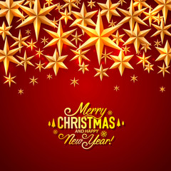 Merry Christmas and happy new year, vector background, design