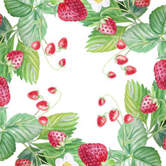 Strawberry painted watercolors.