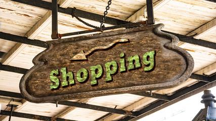 Schild 340 - Shopping
