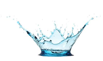 Fresh Blue Water Crown Splash
