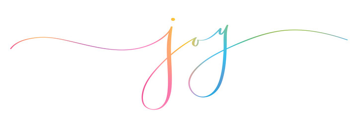 JOY brush calligraphy banner