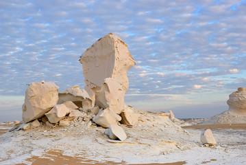 Wall Mural - The limestone formation in White desert Sahara Egypt