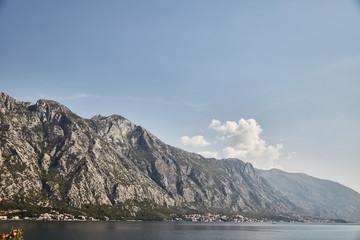 Bay of Kotor. mountain in Montenegro. Montenegro.