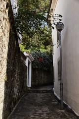 Streets of Herceg Novi. Alley in Montenegro.