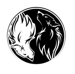 Yin Yang Wölfe