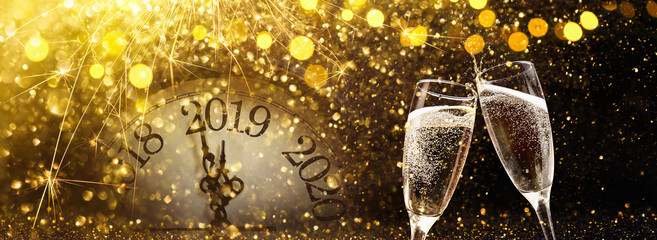 Poster Alcohol New Year's Eve 2019 Celebration Background