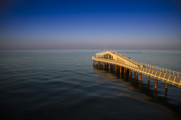 View on the pier of Camaiore