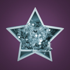 Christmas decoration white star