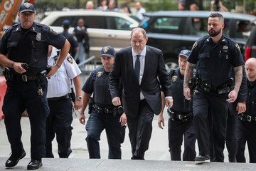 Film producer Harvey Weinstein arrives at New York Supreme Court in Manhattan in New York City