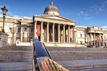 National Gallery, Trafalgar Square, London England UK