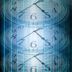 conceptual technology and time image of clock and abstract lights