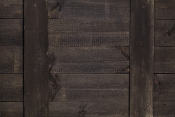 Old brown wood background, rustic wooden surface with copy space