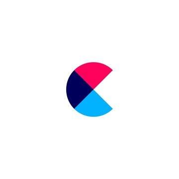 c letter overlapping logo vector icon