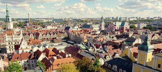 Obraz Piękna poznańska starówka, zabytkowe centrum stolicy Wielkopolski, Poznania - fototapety do salonu