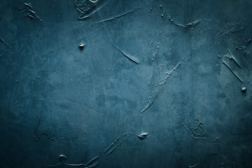 abstract design blue textured background. distressed stroked and smeared blackboard template. copy...