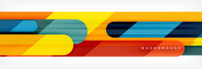 Abstract colorful lines, modern geometric background design