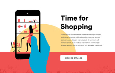 Time for Shopping, E-Commerce Landing Page
