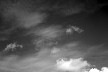 Clouds and sky.