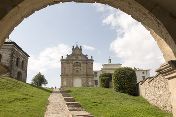Poster Monument Benedictine monastery and basilica, Holy Cross, Swietokrzyskie Mountains.