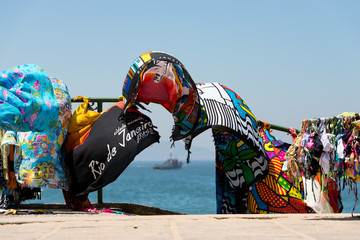Beach Yokes With Rio de Janeiro Landmarks Waving in the Wind