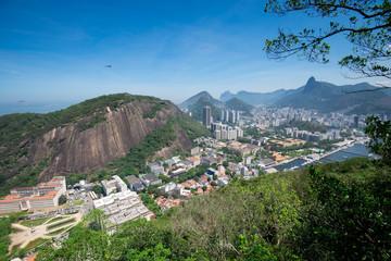 Aerial View of Rio de Janeiro City and Mountains
