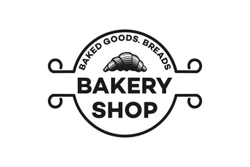 hand drawn pastries, vintage bakery logo Designs Inspiration Isolated on White Background