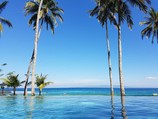 Infinity pool in Bali, Indonesia