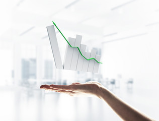 Concept of financial growth and progress by increasing arrow in