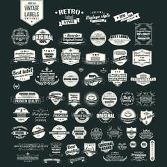 set of food logotypes