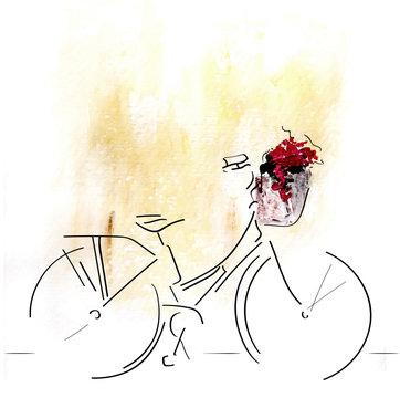 Bicicleta en primavera