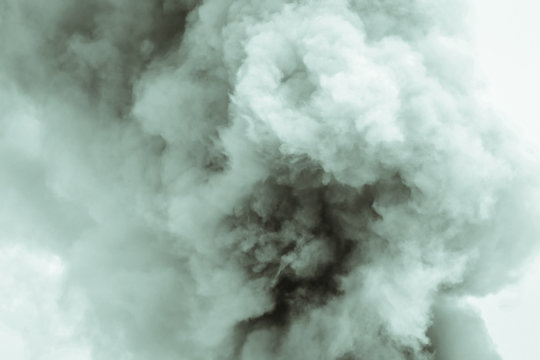 Abstract smoke on white background,Bomb smoke background.