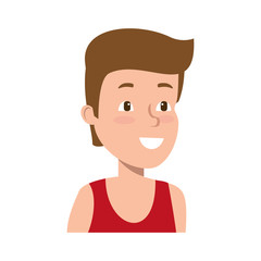 young athlete boy character