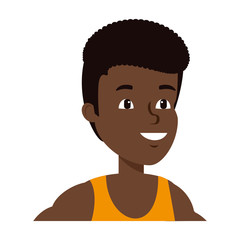young black athlete boy character